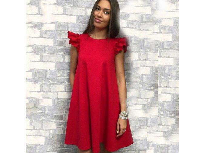 Červené letní dámské šaty
