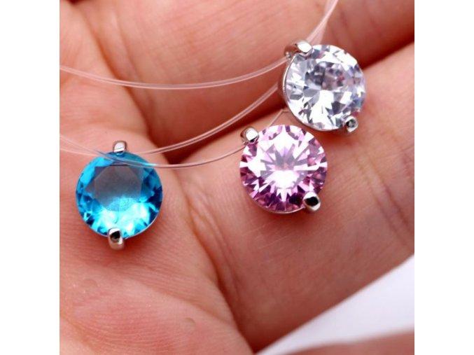 Dámský náhrdelník se zirkonem