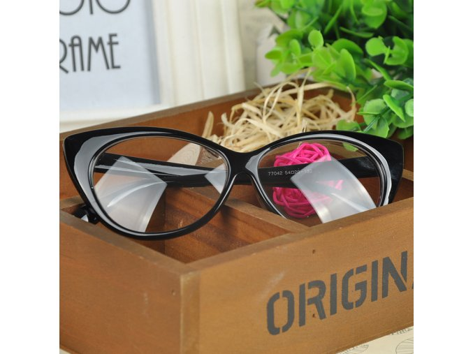 Stylové dámské retro brýle černé