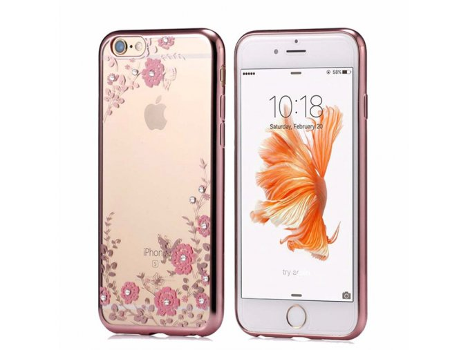 Obal na iPhone s růžičkami
