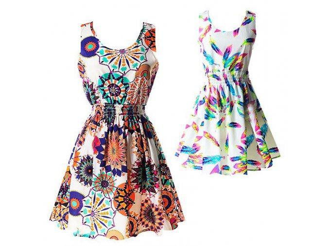 Dámské letní vzorované šaty