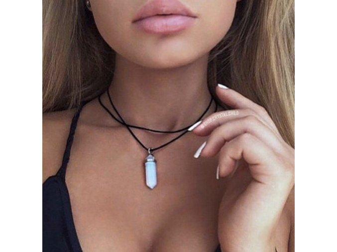 Dámský náhrdelník s krystalem