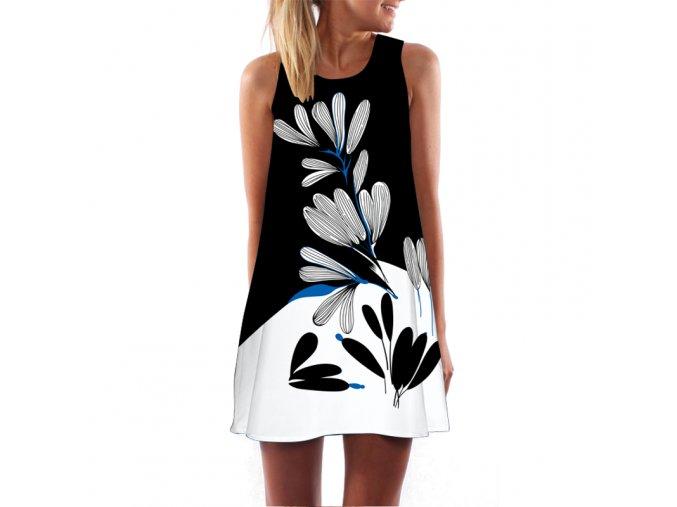 Letní černobílé šaty