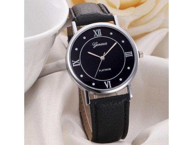 Elegantní hodinky Geneva černé