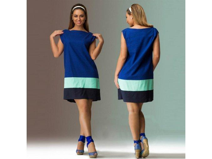 Letní modré šaty