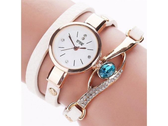Trojité dámské hodinky bílé
