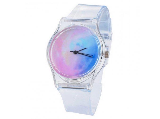 Průhledné silikonové hodinky