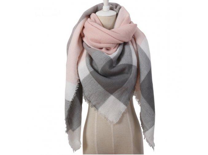 Hebký kostkovaný šátek