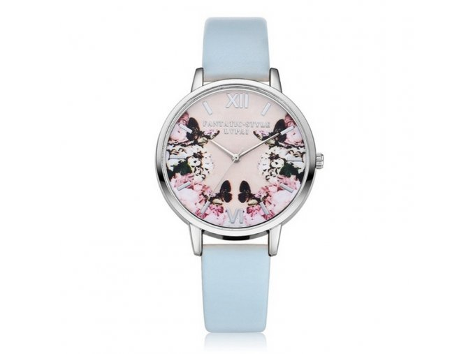 Dámské hodinky s květinami - SLEVA 75%