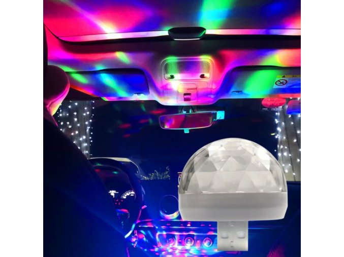 USB LED disko lampička