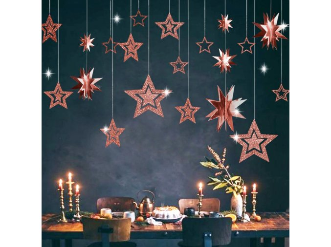 pcs lot twinkle star paper pendant garl main 1