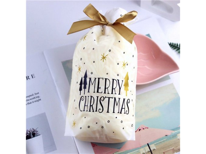 white merry bags 0 pcs santa gift bag candy bag snowflake variants 2