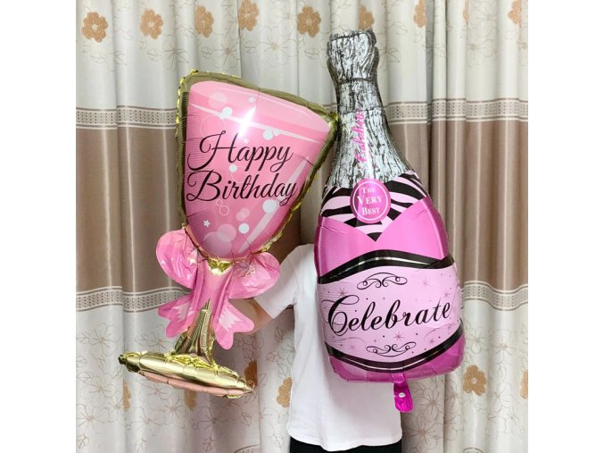 Birthday Mixed B ig helium balloon champagne goblet ball variants 0