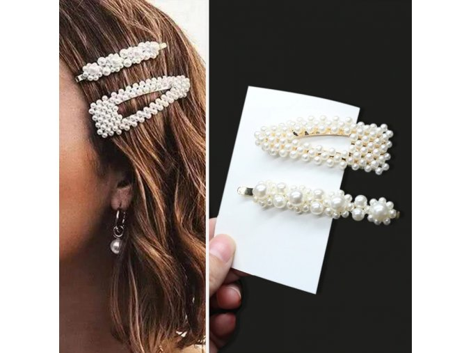 S2 2pcs set handmade pearls hair clips pin for variants 1