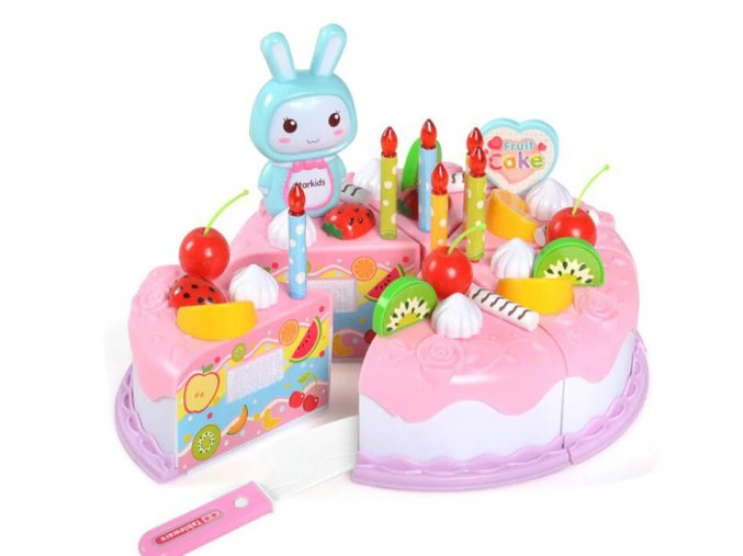 Pink Cake 7 pcs kitchen toys cake food diy pretend variants 1