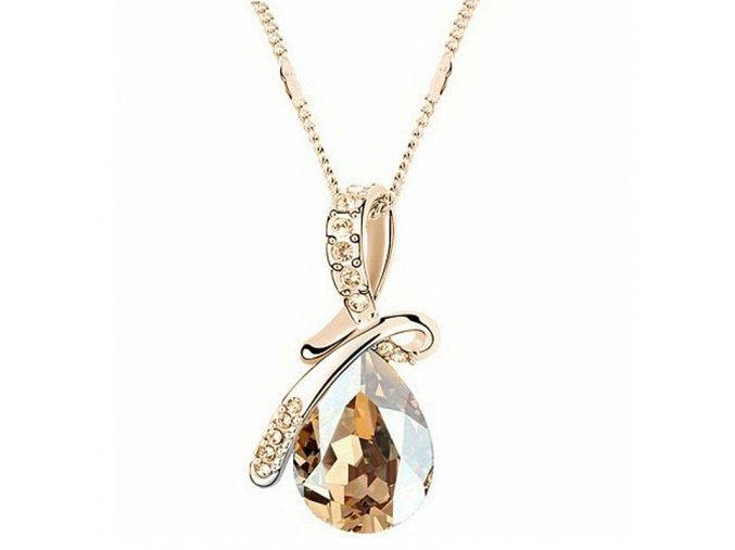 Elegantní pozlacený dámský náhrdelník Champagne