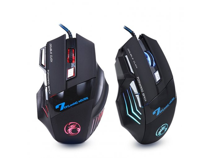 mainimage0Ergonomic Wired Gaming Mouse 7 Button LED 5500 DPI USB Computer Mouse Gamer Mice X7 Silent