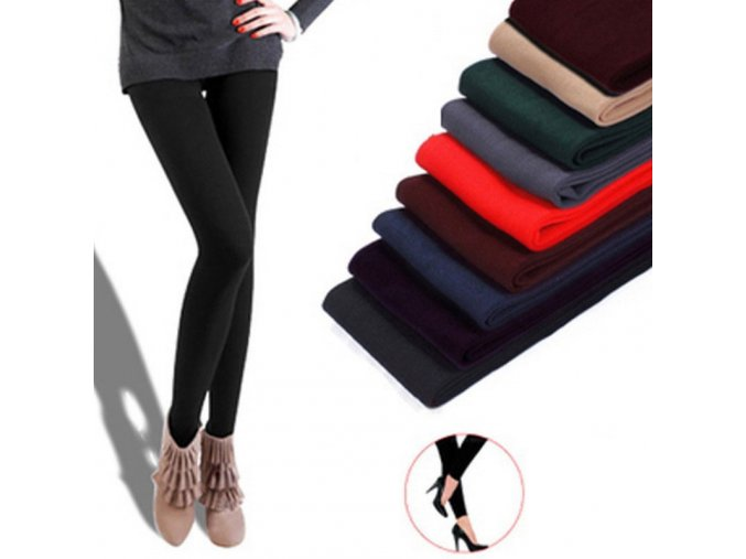 mainimage0Women winter warm leggings skinny stretch fleece pants Women Casual Faux Velvet ankle length Legging Knitted