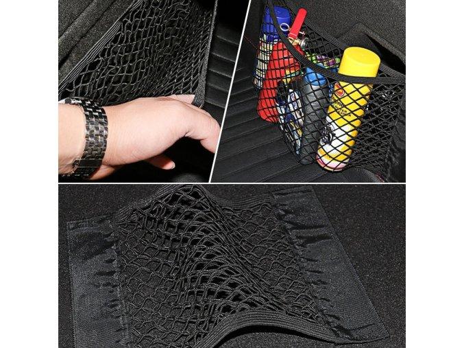 car back rear mesh trunk seat elastic st main 4