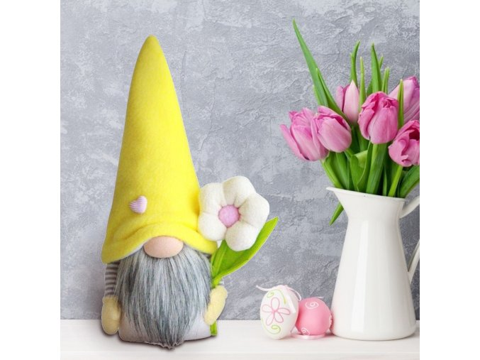 A 1 2 pcs easter standing bunny gnome handm variants 0