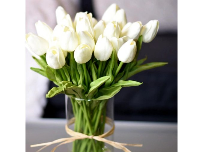 10 pcs tulip artificial flower real touch main 0