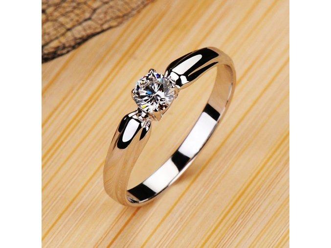 luxury female small round stone ring rea main 0