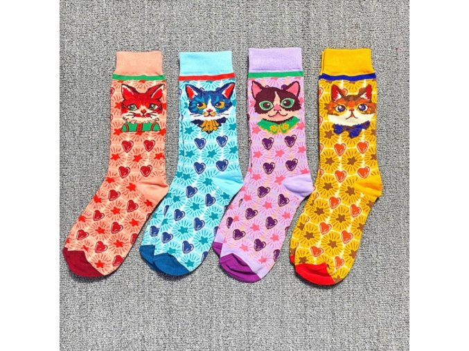 occident fashion colorful print socks wo main 3