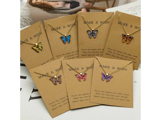 korean fashion cute butterfly pendant ne main 0