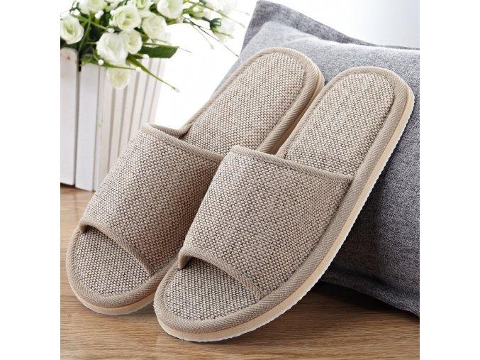 Beige 2020 linen shoes women household slipper variants 0