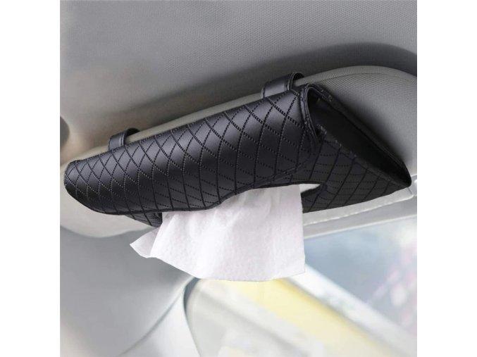 2020 car visor tissue holder pu leather main 1