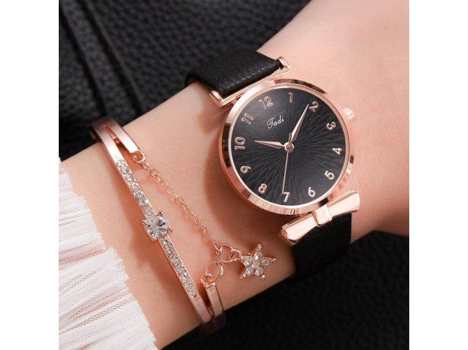Leather Black Set luxury women bracelet quartz watches for variants 1
