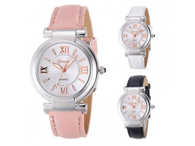 Stylové dámské hodinky s římskými číslicemi