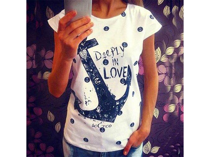 Stylové dámské triko s kotvou