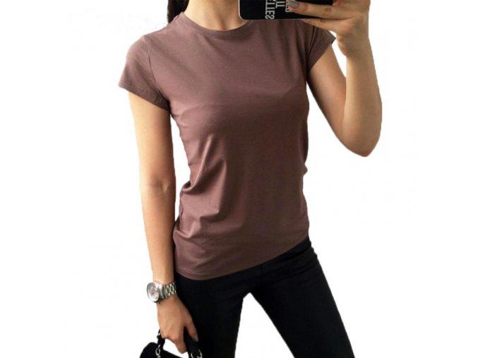 Luxusní dámské bavlněné tričko