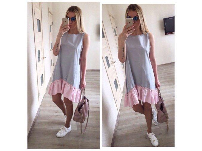 Šedivé volné letní šaty