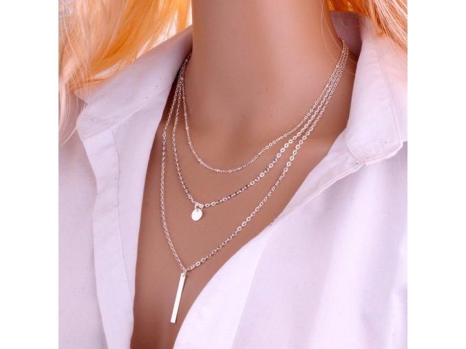 Dámský 3vrstvý náhrdelník