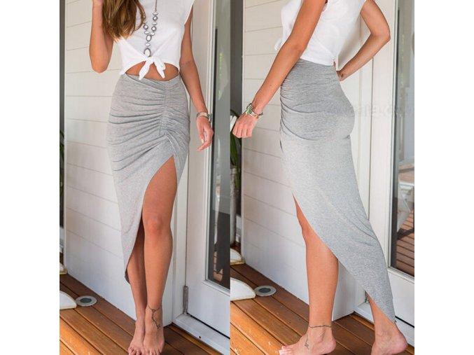 Dlouhá letní sukně s rozparkem