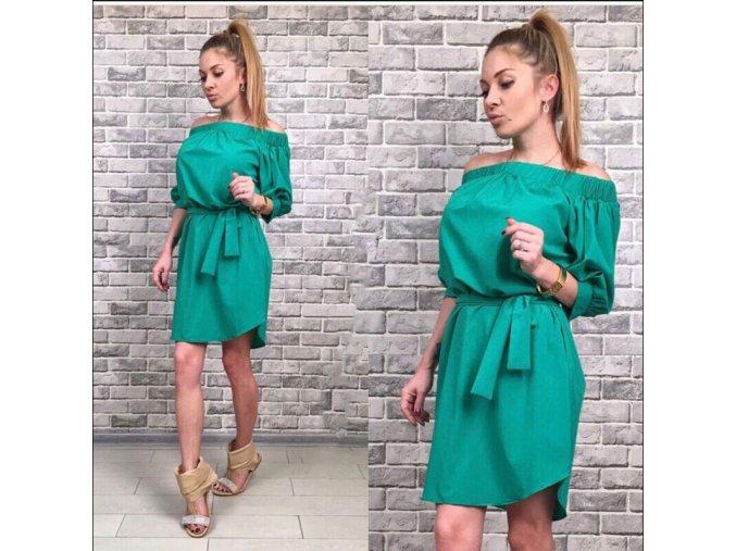 Stylové zelené letní šaty
