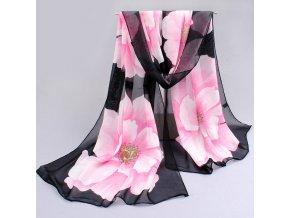 Dámský šátek s květinami
