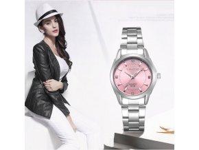 Kovové hodinky s barevným ciferníkem