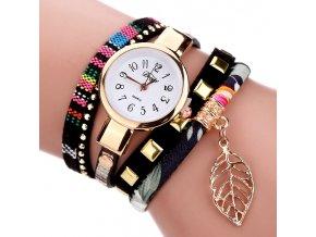 Náramkové hodinky s lístkem