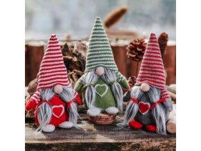 Vánoční dekorace trpaslík - SLEVA 55%