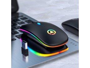 Bezdrátová LED svítící PC myš - SLEVA 60%