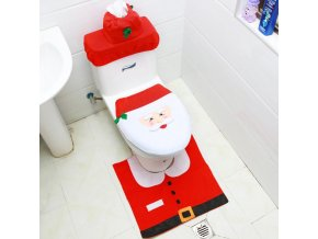 Deep Sapphire hristmas toilet dec santa claus bathroo variants 0