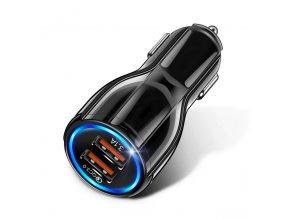 Black etihu 18 w 3 1 a car charger dual usb fas variants 0