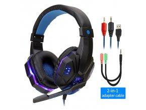 BlackBlue with Light professional led light gamer headset for variants 2