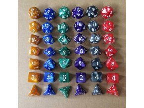 7 pcs set 17 colors multifaceted dice d d description 0