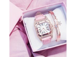 Pink With Barcelet women diamond watch starry square dial b variants 5