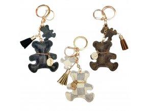 cute keychain tassel faux leather bear k main 0