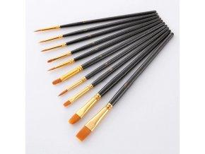 2 10 pcs set nylon artist paint brush profe variants 1